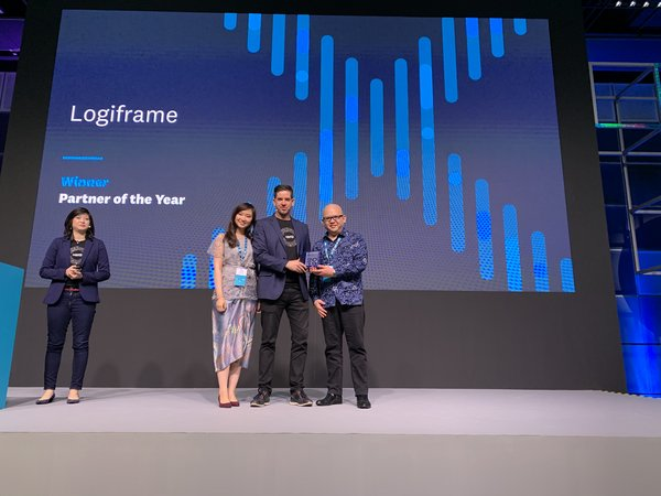 Logiframe meraih penghargaan Xero Awards 2019 - Asia Accounting Partner of the Year.