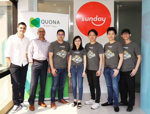 Sunday InsurTech Raises USD 11 Milliion Series A2 led by Quona Capital