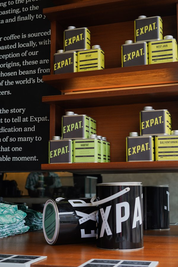 Expat. Roasters newly launched coffee bean packaging