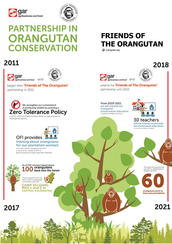 The Infographic of OFI and GAR Cooperation