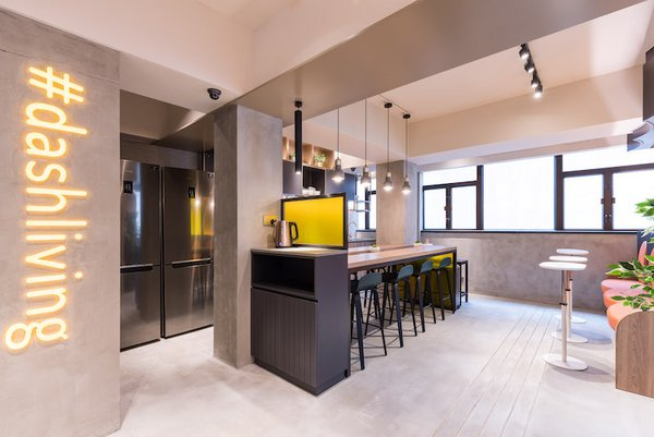 Dash Coliving Hong Kong Communal Space / Kitchen and Communal Table