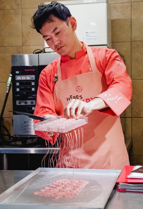 Kohei Ogata, Head of Chocolate Academy in Tokyo, leads the way in exploring new and creative Ruby chocolate applications in Japan.