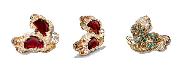 CINDY CHAO The Art Jewel_2008 Black Label Masterpiece Ruby Butterfly Back 红宝侧飞蝴蝶