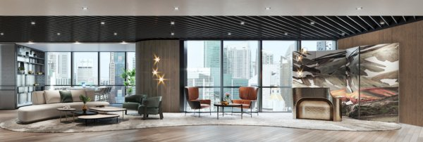 Arrival Lounge of Arcc Spaces One Marina Boulevard
