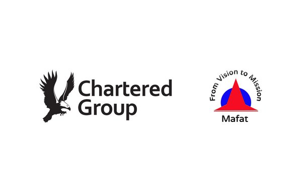 Chartered Group and MAFAT Logo