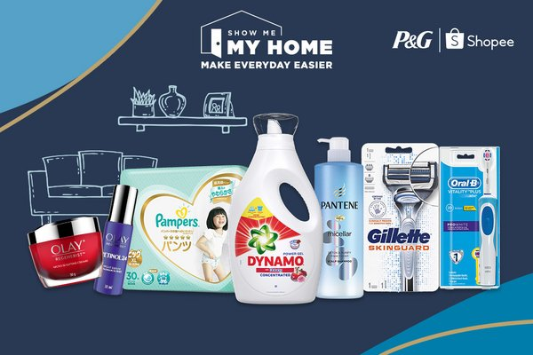 P&G products available on Shopee's Show Me My Home Campaign