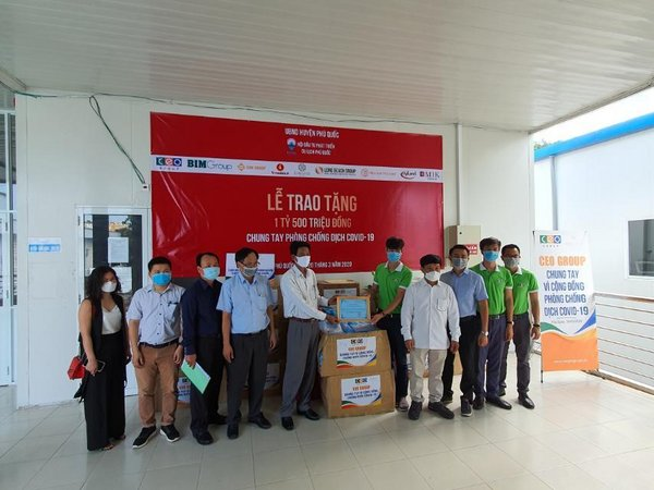BIM Group cooperates with Phu Quoc Tourism Development Investment Association and businesses to contribute 1.5 billion VND to support the life of the islanders.
