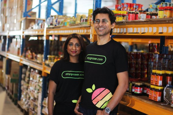 Stephen Francis and Michele Mahendra, founder and co-founder of MyGroser