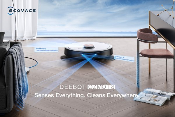 ECOVACS ROBOTICS introduces DEEBOT OZMO T8 & T8+ to the T8 Family, its high-end intelligent floor cleaning robots series