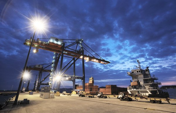 The installation of LED lighting's at Sapangar Bay Container Port on gradual basis has shown significant reduction in energy consumption.