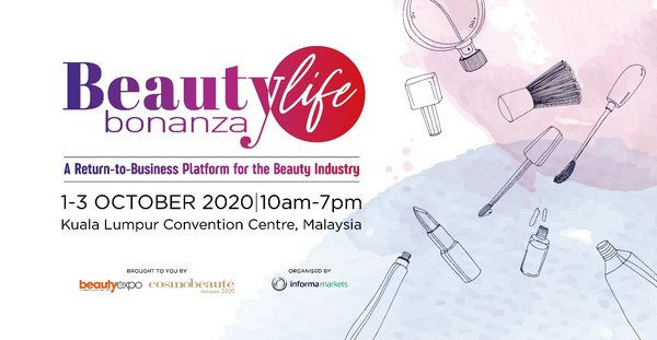 Beautylife Bonanza will take place from 1-3 October 2020 at Kuala Lumpur Convention Centre, Malaysia.