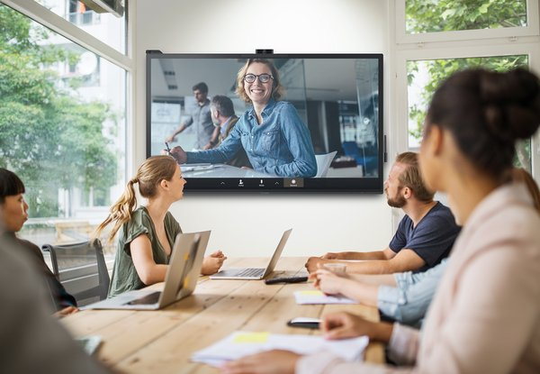 The ViewBoard IFP70 series is certified by WCD as an ideal USB-C one-cable solution, offering a superior touch and writing experience, delivering high-quality video for conferencing, and is Microsoft Azure IoT-certified to make workspaces smarter.