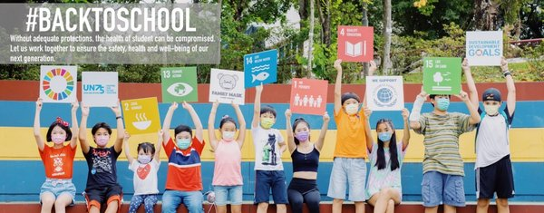 #BackToSchool campaign in response to UN75 is launched by Jessie Chung and Kenneth Kwok, the co-founders of Family Mask.