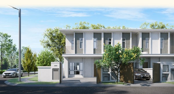 Front view of Myra Garden's first phase, Aster, placed in an elegant township with club-like amenities