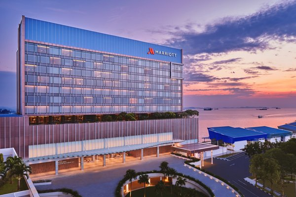 Batam Marriott Hotel Harbour Bay, the first five-star hotel in Batam, Indonesia.