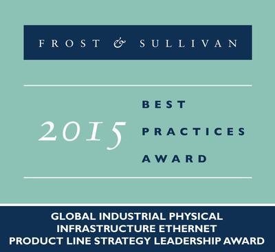 Belden receives the 2015 Frost & Sullivan Global Industrial Physical Infrastructure Ethernet Product Line Strategy Leadership Award