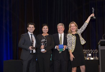 Asia-Pacific Stevie Awards Winners & Michael Gallagher, Founder and President of the Stevie Awards.