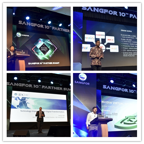 Presentations delivered during Sangfor Partner Summit