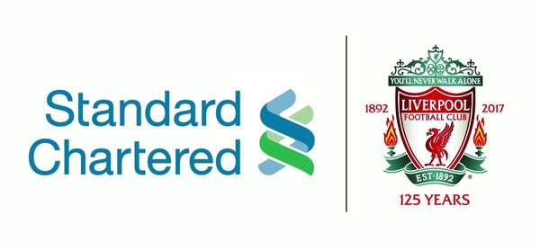 The Standard Chartered Bank and Liverpool Football Club logo