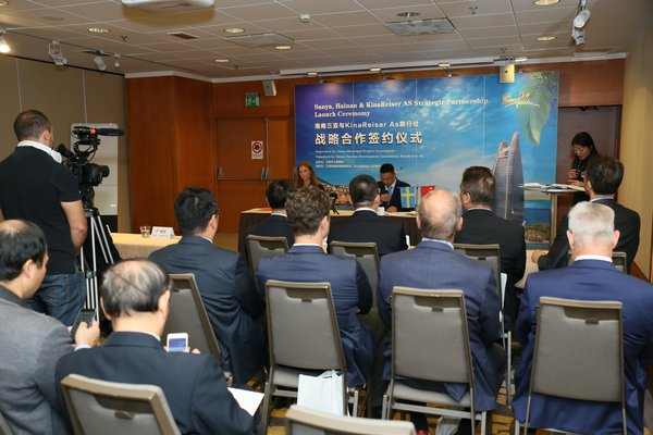Signing ceremony for MOU for the Sanya-Oslo Route