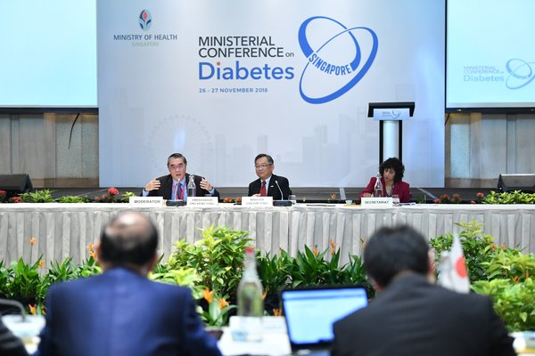 Ministerial Conference on Diabetes 2018 Singapore - Ministerial Roundtable on November 27 hosted by Mr. Gan Kim Yong, Minister of Health, Singapore, and moderated by Mr. Ong Keng Yong, Ambassador-at-Large, Singapore