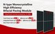 N-type Monocrystalline High Efficiency Bifacial Paving Module can increase the power by 15-20w