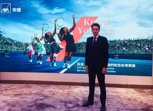 Etienne Bouas-Laurent, Chief Executive Officer of AXA Hong Kong and Macau today unveils AXA's new global brand promise