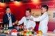 "Star Chef Martin Yan uses Lee Kum Kee Laksa Thick Soup to prepare the dish ""Chicken and Basil Laksa Spaghetti"""