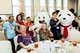 Lee Kum Kee's Global Volunteer Team, along with the mascots Lee Kum Kee Panda and Oyster, attends the International Master Chef's Charity Luncheon 2019 and shares a joyful afternoon with over 700 elderly and the physically impaired.