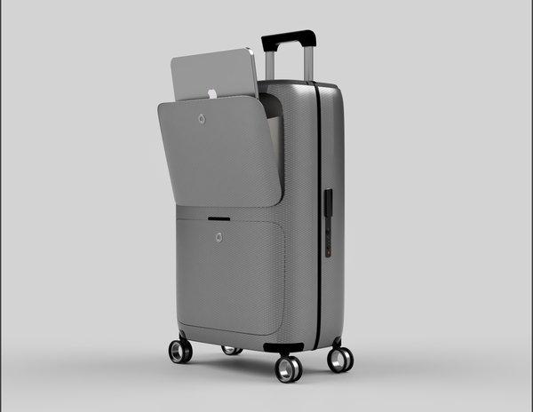 SkyTrek Smart Luggage Front Pocket