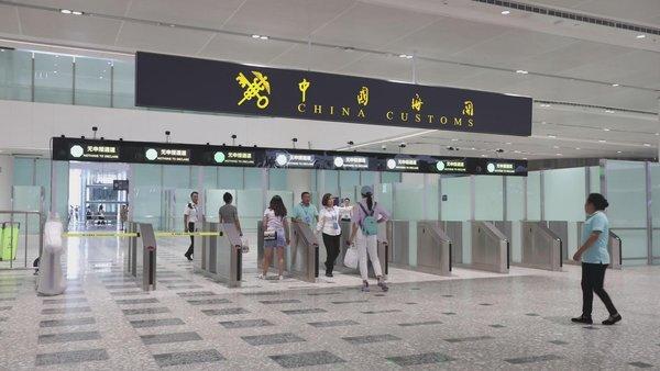 大兴国际机场海关安检通道