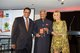 Dilmah Founder Merrill J Fernando receiving the award from Sonia Kruger, joined by his son and Dilmah CEO Dilhan C Fernando