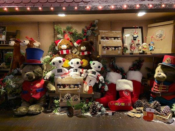 為了向市民宣揚美好的祝愿和施予之樂,聖誕小熊商店精心挑選一系列來自世界各地的特色禮品,當中包括由Pedro Serapicos創作的「與聖誕小熊發掘聖誕精神」故事書、精緻可愛的「Pedro 特別版」小熊公仔,機械人Robo及馴鹿造型毛公仔、聖誕村民懷舊飾物,以及可供訂製的聖誕襪和徽章,最適合買來送贈給摰愛親朋,所有收益亦將撥捐予願望成真基金。