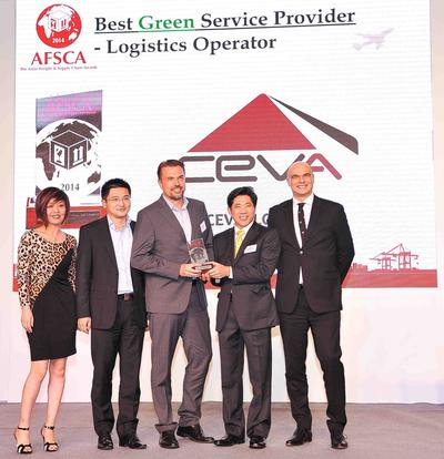 CEVA Wins Best Green Logistics Operator Award at Asian Freight and Supply Chain Awards 2014