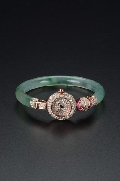 Ms Chang_Jadeite Bangle Watch