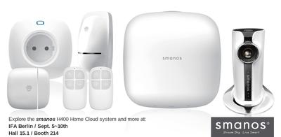 The smanos H400 Home Cloud system ensures wireless security, monitoring and automation capabilities in an affordable, attractive package.
