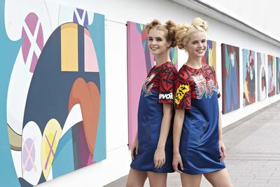 Models dress in KAWS style