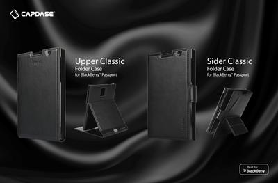 Capdase's exqCapdase's exquisite Upper Classic and Sider Classic series has a modern and sleek look and is designed to precisely fit the BlackBerry Passport.