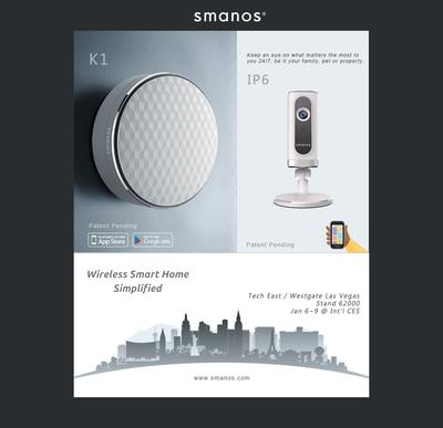Smart home guru smanos will be showcasing its latest wireless home automation and DIY security systems at International CES 2015.