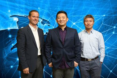 Intel's General Manager of Consumption Sales Mr. Douglas Cougle, iQIYI's Chief Technology Officer Mr. Xing Tang, and Director of Intel Labs China Mr. Gansha Wu