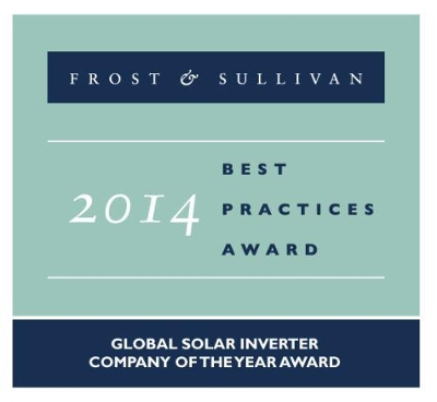 TMEIC scoops Frost & Sullivan's 2014 Global Solar Inverter Company of the Year Award