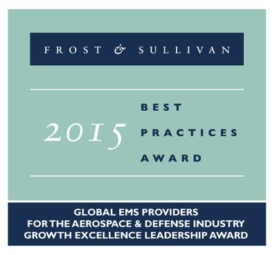 Europlacer scoops 2015 Global Frost & Sullivan Award for Growth Excellence Leadership in the EMS Market for the Aerospace & Defence Industry