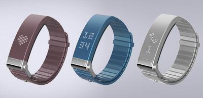 Smart Band, a chic looking yet highly functional wearable device designed for the fashion conscious, not only notifies the user of incoming calls, SMS, MMS, emails and SNS updates, but also promotes the user's health through activity tracking and motivation-enhancing features.