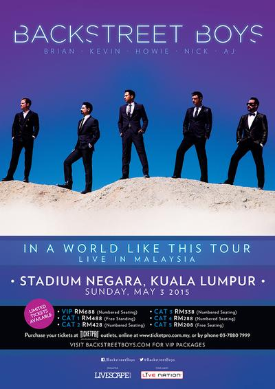 600 Extra Tickets Added to the Backstreet Boys Show in Malaysia