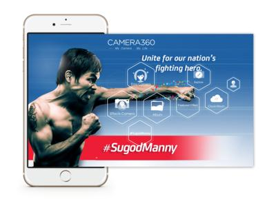 Camera360 Collaborates With Smart to Support Manny Pacquiao in Megafight With Floyd Mayweather