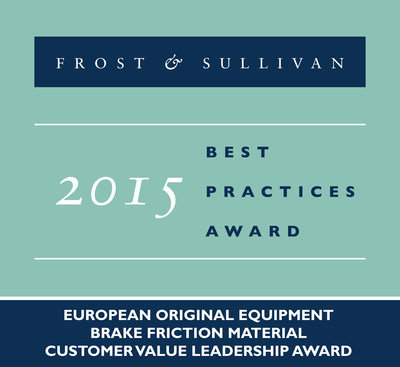 Frost & Sullivan Lauds TMD Friction for Leading the European Brake Friction Material Market with its Best-in-class Friction Materials