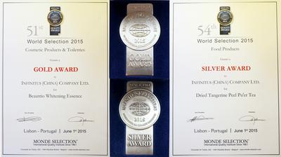 Infinitus Honoured with Internationally Renowned Quality Awards by Monde Selection
