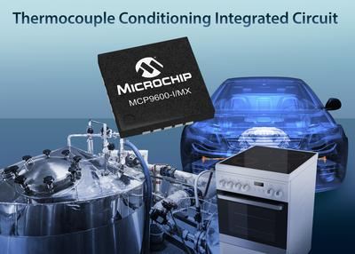 World's First Integrated Thermocouple Electromotive Force to Degrees Celsius Converter from Microchip Saves Design Effort, Space and Cost