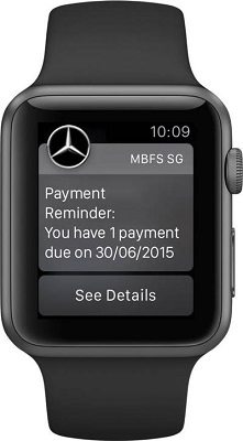myMBFS app -- Payment reminder notification