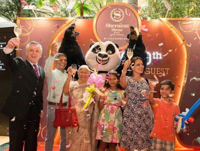 Sheraton Macao Hotel, Cotai Central Throws Ultimate DreamWorks Birthday Bash For 'Five Millionth Guest'